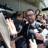 Foto Nicoloro G. 12/05/2018 Milano Riunione dei delegati negoziatori della Lega e del M5S per trovare una soluzione per il ' Contratto di Governo '. nella foto il senatore Alfonso Bonafede.