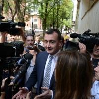 Foto Nicoloro G. 12/05/2018 Milano Riunione dei delegati negoziatori della Lega e del M5S per trovare una soluzione per il ' Contratto di Governo '. nella foto il responsabile Comunicazione Rocco Casalino.