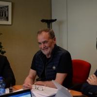 Foto Nicoloro G. 12/05/2018 Milano Riunione dei delegati negoziatori della Lega e del M5S per trovare una soliuzione per il ' Contratto di Governo '. nella foto delegati al tavolo dei negoziati.