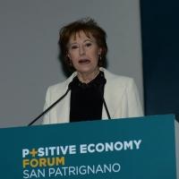 Foto Nicoloro G. 07/04/2016 Coriano (RN) Comunita' di San Patrignano Terza edizione del ' Positive Economy Forum '. nella foto Letizia Moratti, presidente Fondazione San Patrignano.
