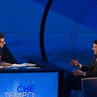 Foto Nicoloro G. 13/11/2016 Milano Trasmissione televisiva su Rai 3 ' Che tempo che fa '. nella foto Fabio Fazio con il premier Matteo Renzi.
