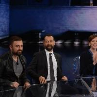 Foto Nicoloro G. 13/11/2016 Milano Trasmissione televisiva su Rai 3 ' Che tempo che fa '. nella foto da sinistra chef Rubio, Fabio Volo e Cristiana Capotondi.