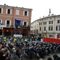 Foto Nicoloro G. 01/10/2017 Cesena ( Forli'-Cesena ) Visita di papa Francesco a Cesena. nella foto gremito anche il parterre in piazza.