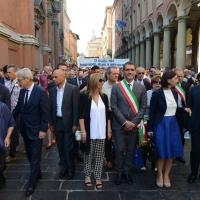 Foto Nicoloro G. 02/08/2016 Bologna, Trentaseiesimo anniversario della strage alla stazione di Bologna. nella foto Autorità in testa al corteo.