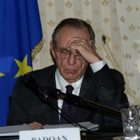 Foto Nicoloro G.   23/02/2015   Milano    Firmato l' accordo sullo scambio d' informazioni tra i ministri di Economia e Finanze di Italia e Svizzera. nella foto il ministro Pier Carlo Padoan.