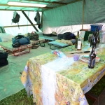 Foto Nicoloro G.   10/05/2019   Milano   Adunata Nazionale degli Alpini per il 100° anniversario della costituzione del Corpo. nella foto l' interno di una tenda.