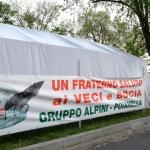 Foto Nicoloro G.   10/05/2019   Milano   Adunata Nazionale degli Alpini per il 100° anniversario della costituzione del Corpo. nella foto uno striscione.