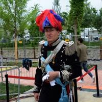 Foto Nicoloro G.   01/05/2015  Milano   Al via l' Expo Milano 2015, l' Esposizione Internazionale che l'Italia ospiterà dal primo Maggio al 31 Ottobre 2015. nella foto il direttore della Banda dell' Arma dei Carabinieri il Maestro Massimo Martinelli.