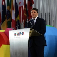 Foto Nicoloro G.   01/05/2015  Milano   Al via l' Expo Milano 2015, l' Esposizione Internazionale che l'Italia ospiterà dal primo Maggio al 31 Ottobre 2015. nella foto il premier Matteo Renzi.