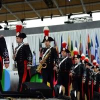 Foto Nicoloro G.   01/05/2015  Milano   Al via l' Expo Milano 2015, l' Esposizione Internazionale che l'Italia ospiterà dal primo Maggio al 31 Ottobre 2015. nella foto la banda musicale dell' Arma dei Carabinieri si schiera sul palco.