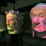 Foto Nicoloro G.   14/05/2021   Ravenna   Anteprima stampa dell' apertura del Museo Dante nell' ambito delle celebrazioni per il settimo centenario della morte del Sommo Poeta. nella foto riproduzioni del volto di Dante.