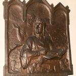 Foto Nicoloro G.   14/05/2021   Ravenna   Anteprima stampa dell' apertura del Museo Dante nell' ambito delle celebrazioni per il settimo centenario della morte del Sommo Poeta. nella foto una ghirlanda donata in occasione delle celebrazioni per il sesto centenario della morte di Dante.
