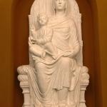 Foto Nicoloro G.   14/05/2021   Ravenna   Anteprima stampa dell' apertura del Museo Dante nell' ambito delle celebrazioni per il settimo centenario della morte del Sommo Poeta. nella foto il calco in gesso della statua ' Madonna in trono con Bambino ' che nell' originale sovrastava l' arca con le spoglie di Dante nella sua prima sepoltura.