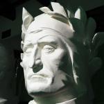 Foto Nicoloro G.   14/05/2021   Ravenna   Anteprima stampa dell' apertura del Museo Dante nell' ambito delle celebrazioni per il settimo centenario della morte del Sommo Poeta. nella foto una delle riproduzioni del volto di Dante esposta nel Museo.