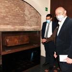 14/05/2021   Ravenna   Anteprima stampa dell' apertura del Museo Dante nell' ambito delle celebrazioni per il settimo centenario della morte del Sommo Poeta. nella foto il governatore Stefano Bonaccini e il sindaco Michele de Pascale in visita al Museo Dante.