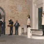 Foto Nicoloro G.   05/09/2020   Ravenna   Apertura delle celebrazioni nazionali per il 700° anniversario della morte del Sommo Poeta alla presenza del Capo dello Stato. nella foto l' arcivescovo Lorenzo Ghizzoni benedice la Tomba di Dante.