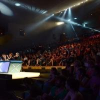 Foto Nicoloro G.  19/06/2013 Milano Terza giornata di audizioni di X Factor in un teatro Dal Verme gremito di pubblico entusiasta. nella foto Veduta del pubblico in Teatro e dei giudici Elio – Mika – Simona Ventura – Morgan