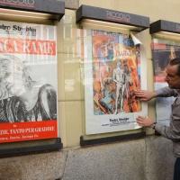 Foto Nicoloro G. 30/05/2013 Milano E' stata allestita nel Piccolo Teatro di via Rovello la camera ardente per Franca Rame, l' attrice si è spenta a 84 anni nella sua casa di Porta Romana a Milano. nella foto Manifesti di Franca Rame
