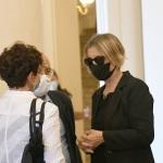 07/08/2020  Rimini   Allestita la camera ardente per Sergio Zavoli all' interno del teatro Galli. nella foto la vedova Alessandra Chello.