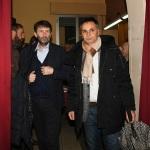 Foto Nicoloro G.   18/01/2020   Ravenna   Campagna elettorale per le elezioni regionali del 26 gennaio in Emilia-Romagna. nella foto il ministro Dario Franceschini, a sinistra, e il candidato a consigliere regionale PD Andrea Corsini.