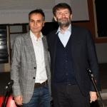 Foto Nicoloro G.   18/01/2020   Ravenna   Campagna elettorale per le elezioni regionali del 26 gennaio in Emilia-Romagna. nella foto il candidato a consigliere regionale PD Andrea Corsini, a sinistra, e il ministro Dario Franceschini.