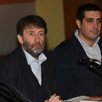 Foto Nicoloro G.   18/01/2020   Ravenna   Campagna elettorale per le elezioni regionali del 26 gennaio in Emilia-Romagna. nella foto da sinistra il ministro Dario Franceschini e il sindaco di Ravenna Michele de Pascale.