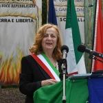 Foto Nicoloro G.   01/10/2020  Conselice ( RA ) Celebrazione del 14° anniversario del Monumento alla Liberta' di Stampa. nella foto la sindaca di Conselice Paola Pula.