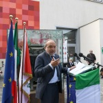 Foto Nicoloro G.   01/10/2020  Conselice ( RA ) Celebrazione del 14° anniversario del Monumento alla Liberta' di Stampa. nella foto Giuseppe Giulietti, presidente FNSI.
