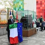 Foto Nicoloro G.   01/10/2020  Conselice ( RA ) Celebrazione del 14° anniversario del Monumento alla Liberta' di Stampa. nella foto Ivano Artioli, presidente ANPI della provincia di Ravenna.