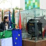 Foto Nicoloro G.   01/10/2020  Conselice ( RA ) Celebrazione del 14° anniversario del Monumento alla Liberta' di Stampa. nella foto Elly Schlein, vicepresidente della regione Emilia-Romagna.