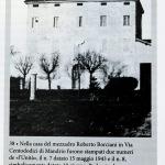 Foto Nicoloro G.   01/10/2020  Conselice ( RA ) Celebrazione del 14° anniversario del Monumento alla Liberta' di Stampa. nella foto la casa nella frazione di Mandrio del comune di Correggio  ( Reggio Emilia) dove furono stampati clandestinamente due numeri dell' Unita' nel 1943.