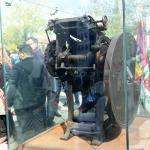 Foto Nicoloro G.   01/10/2020  Conselice ( RA ) Celebrazione del 14° anniversario del Monumento alla Liberta' di Stampa. nella foto la stampatrice a pedale, detta ' pedalina ', con la quale si stamparono clandestinamente giornali durante la Resistenza.