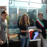 Foto Nicoloro G. 01/10/2012 Conselice ( Ravenna ) Celebrazioni per il sesto anniversario del Monumento alla Stampa Clandestina e alla Libertà di Stampa, secondo in Europa con l' altro che si trova nella città di Almeria in Spagna. nella foto Maurizio Filipucci