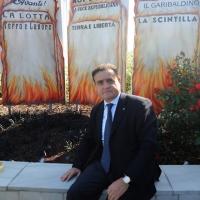 Foto Nicoloro G. 01/10/2012 Conselice ( Ravenna ) Celebrazioni per il sesto anniversario del Monumento alla Stampa Clandestina e alla Libertà di Stampa, secondo in Europa con l' altro che si trova nella città di Almeria in Spagna. nella foto Franco Siddi
