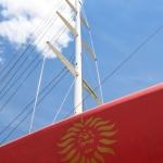 Foto Nicoloro G.   15/05/2021   Ravenna   Celebrazioni per il Moro di Venezia, a 30 anni dal varo, avvenuto il 15/04/1991 e della vittoria del Mondiale IACC. nella foto l' albero e il logo del Moro di Venezia.
