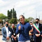 Foto Nicoloro G.   15/05/2021   Ravenna   Celebrazioni per il Moro di Venezia, a 30 anni dal varo, avvenuto il 15/04/1991 e della vittoria del Mondiale IACC. nella foto lo skipper Paul Cayard durante il suo intervento alla cerimonia.