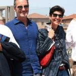Foto Nicoloro G.   15/05/2021   Ravenna   Celebrazioni per il Moro di Venezia, a 30 anni dal varo, avvenuto il 15/04/1991 e della vittoria del Mondiale IACC. nella foto lo skipper Paul Cayard con Maria Speranza Gardini, figlia minore di Raul Gardini.