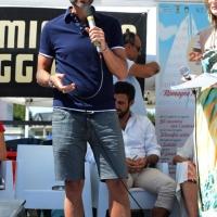 """Foto Nicoloro G.  15/08/2014  Cervia ( Ravenna )  22° edizione di """" Cervia, la spiaggia ama il libro """". nella foto il giornalista Stefano Tura che presenta il suo libro """" Tu sei il prossimo """"."""