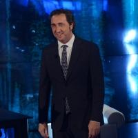 """Foto Nicoloro G.  09/03/2014  Milano   Trasmissione televisiva su Rai 3 """" Che tempo che fa """". nella foto  il regista premio Oscar Paolo Sorrentino."""
