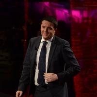 """Foto Nicoloro G.  09/03/2014  Milano   Trasmissione televisiva su Rai 3 """" Che tempo che fa """". nella foto il presidente del Consiglio Matteo Renzi."""