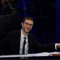 """Foto Nicoloro G.  26/01/2014  Milano   Trasmissione televisiva su Rai 3 """" Che tempo che fa """". nella foto il conduttore Fabio Fazio."""