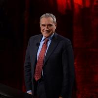 """Foto Nicoloro G.  26/01/2014  Milano   Trasmissione televisiva su Rai 3 """" Che tempo che fa """". nella foto il presidente del Senato Pietro Grasso."""