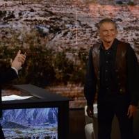 """Foto Nicoloro G.  26/01/2014  Milano   Trasmissione televisiva su Rai 3 """" Che tempo che fa """". nella foto Fabio Fazio accoglie in studio Terence Hill."""