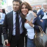 Foto Nicoloro G. 13/05/2011 Milano Chiusura della campagna elettorale del Terzo Polo per le elezioni amministrative 2011. nella foto Italo Bocchino – Barbara Ciabo'