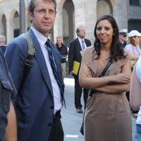 Foto Nicoloro G. 13/05/2011 Milano Chiusura della campagna elettorale del Terzo Polo per le elezioni amministrative 2011. nella foto Benedetto Della Vedova – Sara Giudice