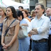 Foto Nicoloro G. 13/05/2011 Milano Chiusura della campagna elettorale del Terzo Polo per le elezioni amministrative 2011. nella foto Sara Giudice – Vincenzo Giudice