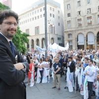 Foto Nicoloro G. 13/05/2011 Milano Chiusura della campagna elettorale del Terzo Polo per le elezioni amministrative 2011. nella foto Manfredi Palmeri