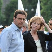 Foto Nicoloro G. 13/05/2011 Milano Chiusura della campagna elettorale della Lega Nord. nella foto Giancarlo Giorgetti – Letizia Moratti