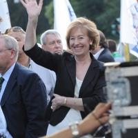 Foto Nicoloro G. 13/05/2011 Milano Chiusura della campagna elettorale della Lega Nord. nella foto Letizia Moratti