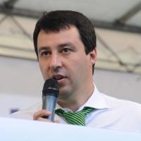 Foto Nicoloro G. 13/05/2011 Milano Chiusura della campagna elettorale della Lega Nord. nella foto Matteo Salvini